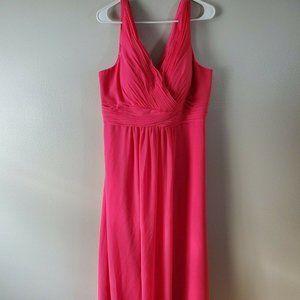 Christina Wu Size 14 Gown Dress Pink V Neck